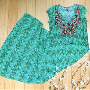 MAAJI green mosaic maxi dress, S.